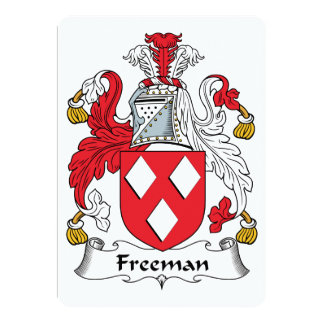 Freeman Family Crest 5x7 Paper Invitation Card
