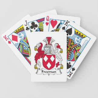 Freeman Family Crest Bicycle Poker Deck