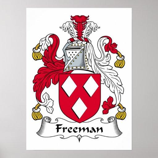 Freeman Family Crest Poster