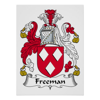 Freeman Family Crest Posters