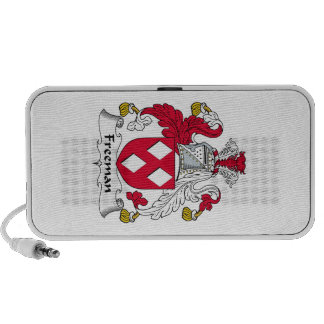 Freeman Family Crest Notebook Speakers