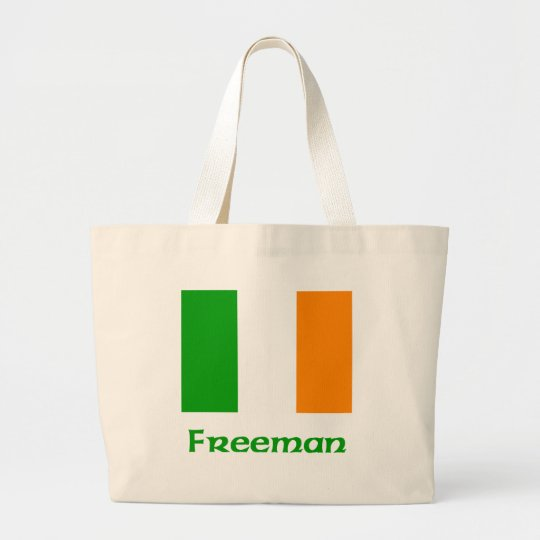Freeman Irish Flag Large Tote Bag