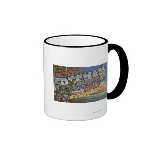Freeman Lake - Large Letter Scenes Mug