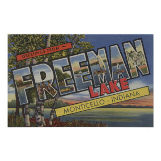 Freeman Lake - Large Letter Scenes Posters