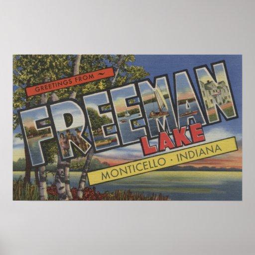 Freeman Lake - Large Letter Scenes Posters