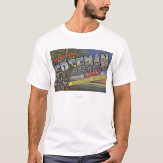 Freeman Lake - Large Letter Scenes T-Shirt