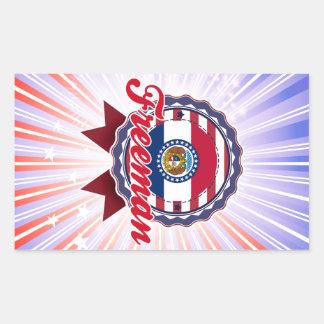 Freeman, MO Rectangle Sticker