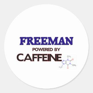 Freeman powered by caffeine sticker