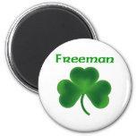 Freeman Shamrock Refrigerator Magnet