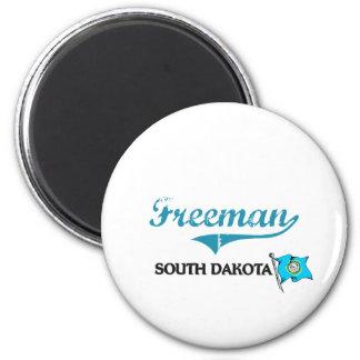Freeman South Dakota City Classic 2 Inch Round Magnet