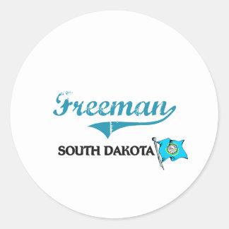 Freeman South Dakota City Classic Sticker