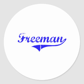 Freeman Surname Classic Style Stickers