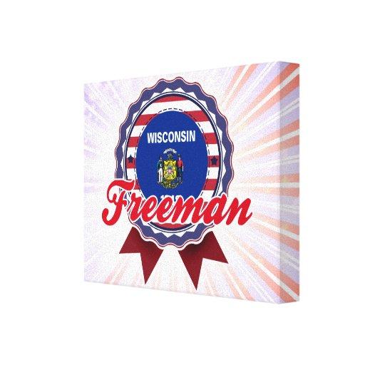 Freeman, WI Lienzo Envuelto Para Galerías