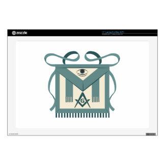 "Freemason Apron 17"" Laptop Decal"