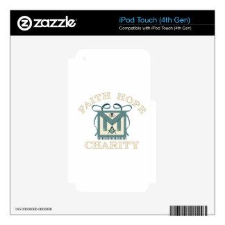 Freemason Apron Faith Hope Charity iPod Touch 4G Decal