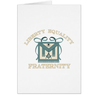 Freemason Apron Liberty Equality Fraternity Card
