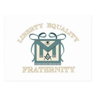 Freemason Apron Liberty Equality Fraternity Postcard