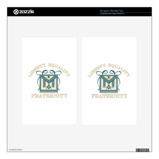 Freemason Apron Liberty Equality Fraternity Decal For Kindle Fire