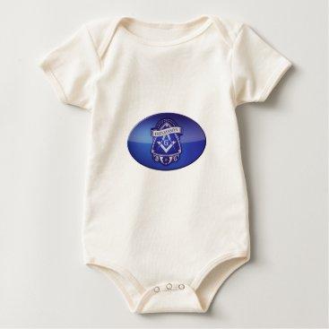 USA Themed freemason baby bodysuit