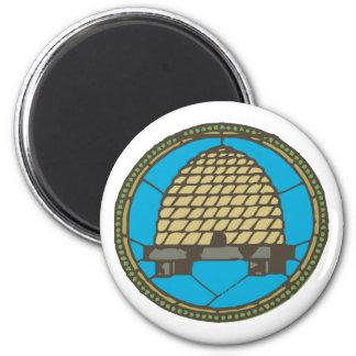 Freemason Beehive 2 Inch Round Magnet