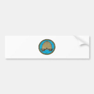 Freemason Beehive Bumper Sticker
