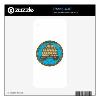 Freemason Beehive Skin For iPhone 4