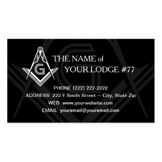 Freemason Business Card - Masonic Custom Card