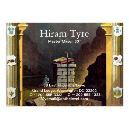 Masonic Business Card Templates