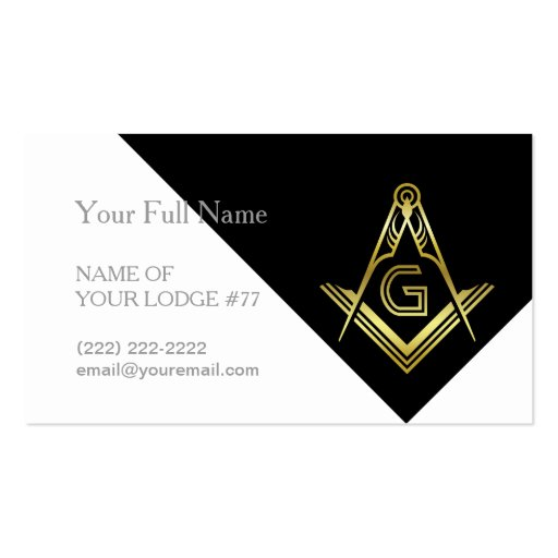 Freemason business cards masonic templates zazzle for Freemason business cards