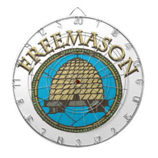 Freemason Dartboard With Darts
