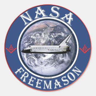 Freemason de la NASA Pegatina Redonda