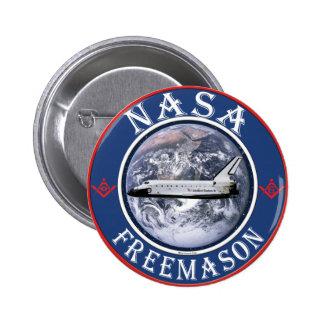 Freemason de la NASA Pin Redondo De 2 Pulgadas