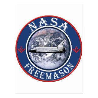 Freemason de la NASA Tarjeta Postal