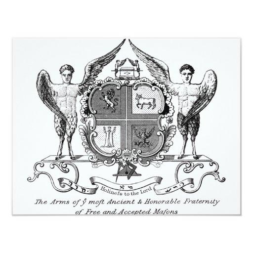 "Freemason Invitación 4.25"" X 5.5"""