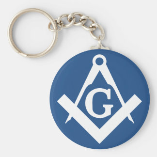 Freemason Basic Round Button Keychain