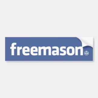 Freemason, logotipo del estilo de Facebook con peq Pegatina Para Auto