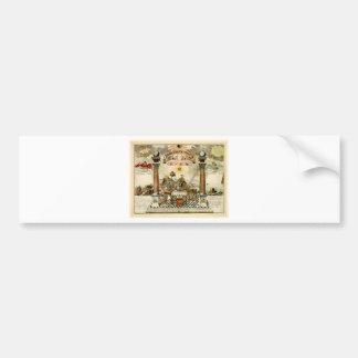 Freemason Masonic Emblematic Chart Bumper Sticker