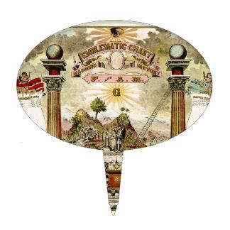 Freemason Masonic Emblematic Chart Cake Pick