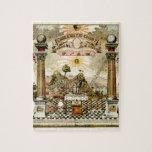 Freemason Masonic Emblematic Chart Jigsaw Puzzle