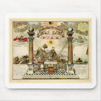 Freemason Masonic Emblematic Chart Mouse Pad