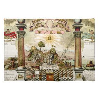 Freemason Masonic Emblematic Chart Place Mat