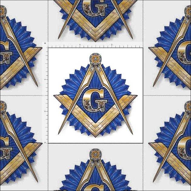 Freemason Masonic Fabric Blue Lodge | Zazzle.com
