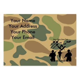 Freemason Military Veteran Large Business Card