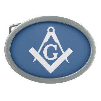 Freemason Oval Belt Buckle