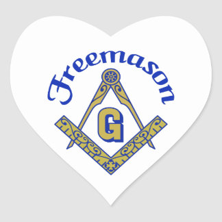 Freemason Pegatina En Forma De Corazón