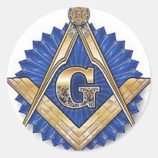 Freemason Pegatina Redonda