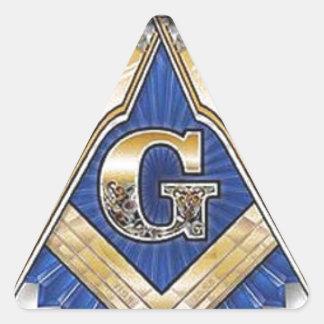 Freemason Pegatina Triangular