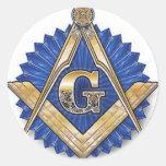 Freemason Pegatinas Redondas