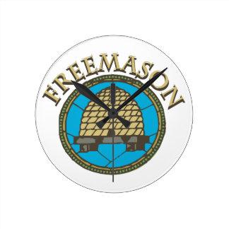 Freemason Round Clock