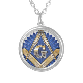 Freemason Silver Plated Necklace